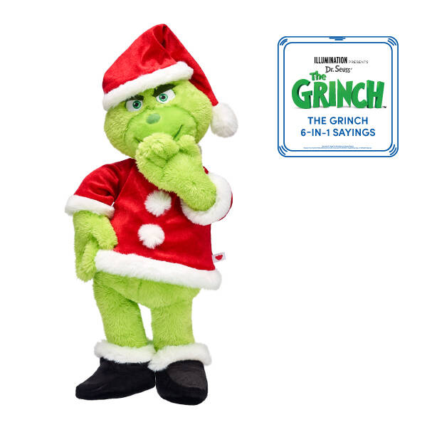 Online Exclusive The Grinch Santa Suit with Sound Gift Bundle, , hi-res