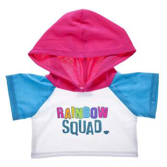 Now your whole squad of furry friends can rock the rainbow! This fun bear-sized hoodie is a cool way to color your world with rainbow fun.