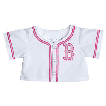 Give your furry friend home run style with a Pink Boston Red Sox Jersey. Cheer on the Red Sox with your furry friend dressed in this white jersey that features a pink Red Sox logo and pink trim.Major League Baseball trademarks and copyrights are used with permission of Major League Baseball Properties, Inc. Visit MLB.com.