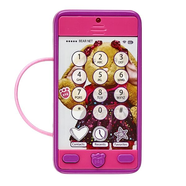 This fuchsia toy smartphone is a fun way to make sure your furry friend is always connected!