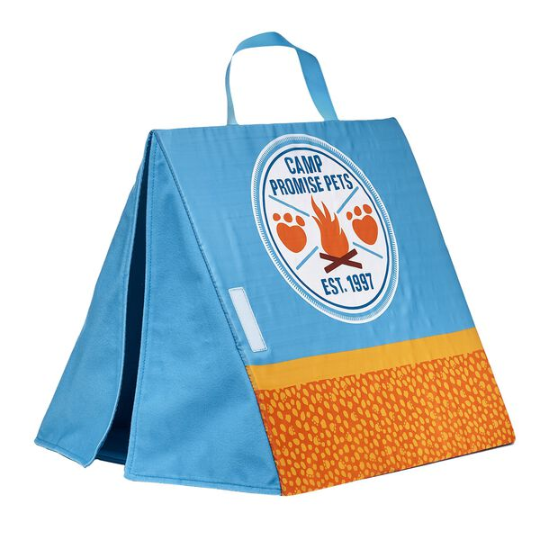 Now you can bring your Promise Pets furry friends camping with you! After you sing songs around the campfire and make yummy s'mores together, your furry friends will love getting to sleep outside in this blue and orange Camp Promise Pets tent. Free shipping on orders over $45. Shop online or visit a store near you!