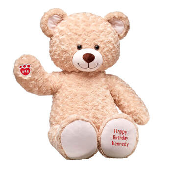 Take fun to the next level with this Jumbo-sized Happy Hugs brown teddy bear! No matter the occasion, give the perfect gift by surprising someone special with this extra large teddy bear. Customize your bear with one of our multi colored Happy Birthday or Congrats messages! Free Shipping on orders over $45.
