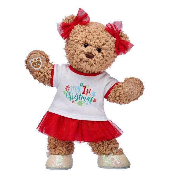 Timeless Teddy First Christmas Girl Gift Set, , hi-res
