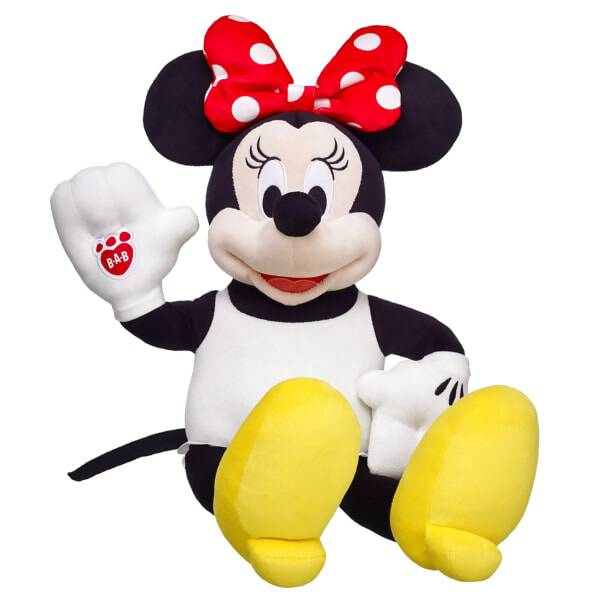 She made her big screen debut beside her sweetheart Disney's Mickey Mouse in 1928. Now Minnie Mouse takes lovable, huggable furry friend form! © Disney