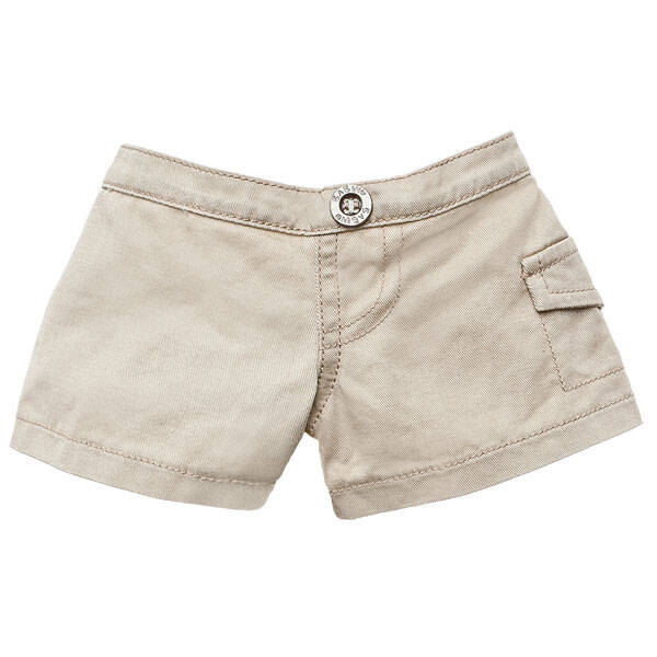 These khaki shorts go with just about anything. Will your animal keep a little charm or lucky penny in the pocket?