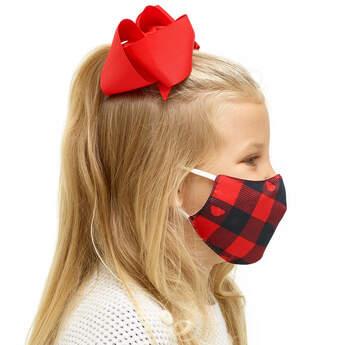 Child-Size Buffalo Check Face Mask - Build-A-Bear Workshop®