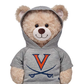 Go Cavaliers! This bear-sized University of Virginia hoodie has openings on the hood for your furry friend's ears.