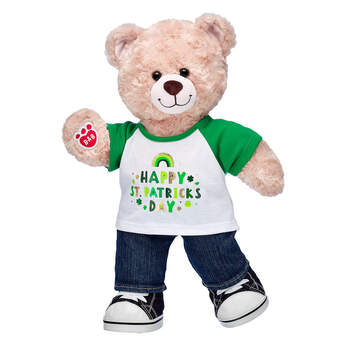 Online Exclusive Happy Hugs Teddy St. Patrick's Day Gift Set, , hi-res