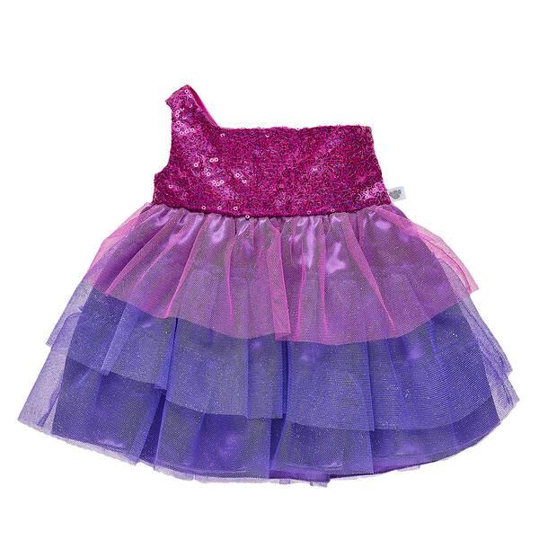 Sparkly Purple Gown - Build-A-Bear Workshop®