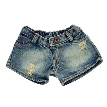 Distressed Denim Shorts - Build-A-Bear Workshop®