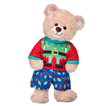 Happy Hugs Teddy Holiday Elf Gift Set, , hi-res