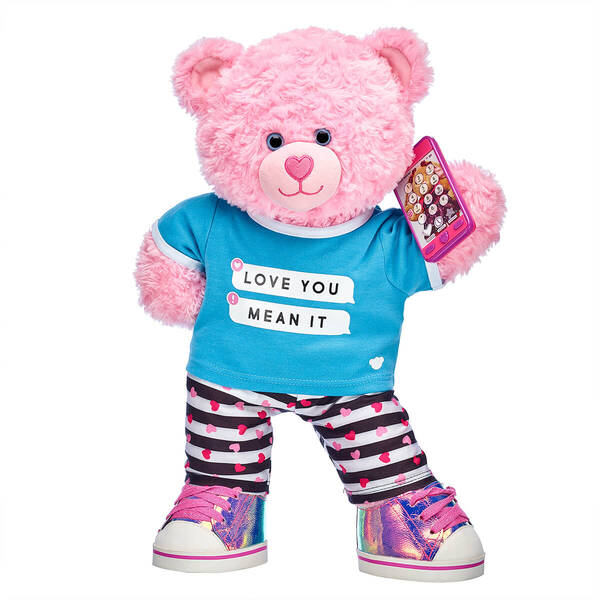 Pink Cuddles Teddy Love You Mean It Gift Set, , hi-res