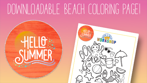 2019 Summer Fun Beach Coloring Sheet